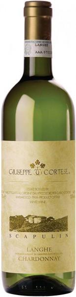 "Вино Giuseppe Cortese, ""Scapulin"" Chardonnay, Langhe DOC, 2015"