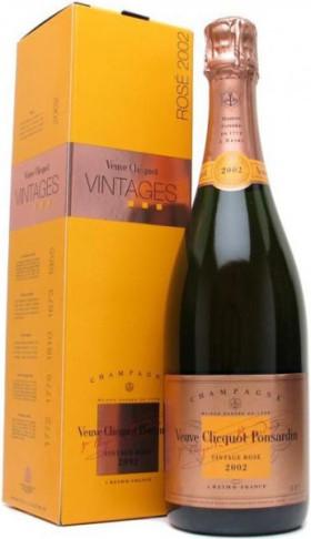 Шампанское Veuve Clicquot Vintage Rose 2002 in gift box