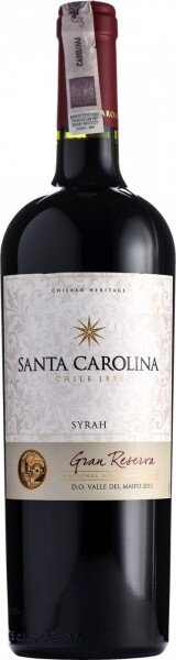 "Вино Santa Carolina, ""Gran Reserva"" Syrah, Valle del Maipo DO, 2012"
