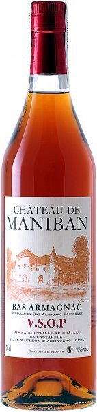 "Арманьяк Castarede, ""Chateau de Maniban"" VSOP, Bas Armagnac AOC, 0.7 л"