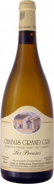 "Вино Domaine Jean et Sebastien Dauvissat, Chablis Grand Cru ""Les Preuses"", 2006, 0.375 л"