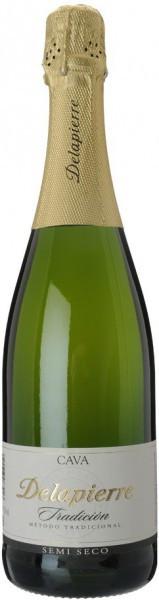 "Игристое вино ""Delapierre"" Tradicion Semi Seco"