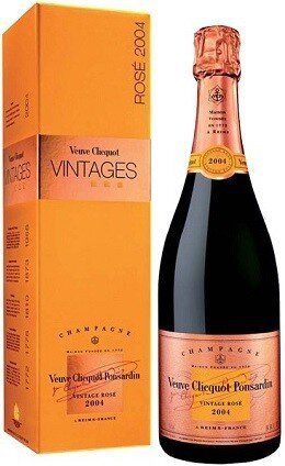 Шампанское Veuve Clicquot Vintage Rose 2004 in gift box