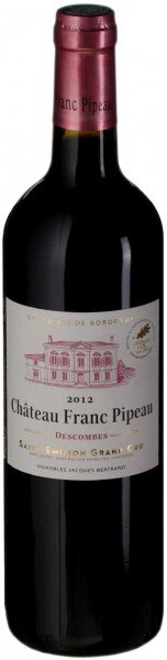Вино Chateau Franc Pipeau, Saint-Emilion Grand Cru AOC, 2012