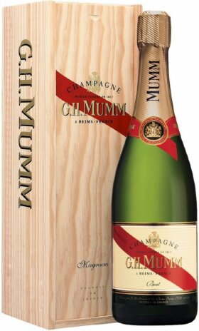 "Шампанское Mumm, ""Cordon Rouge"" AOC, wooden box, 1.5 л"