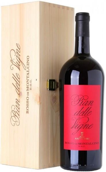 """Вино """"Pian Delle Vigne"""", Rosso di Montalcino DOC, 2013, wooden box, 1.5 л"""