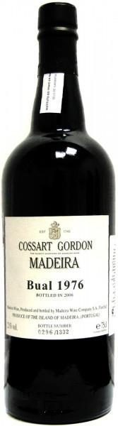 Вино Cossart Gordon, Bual, 1976