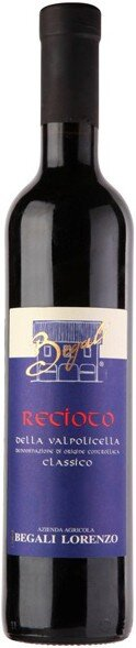 Вино Lorenzo Begali, Recioto della Valpolicella Classico DOC, 2005, 0.5 л