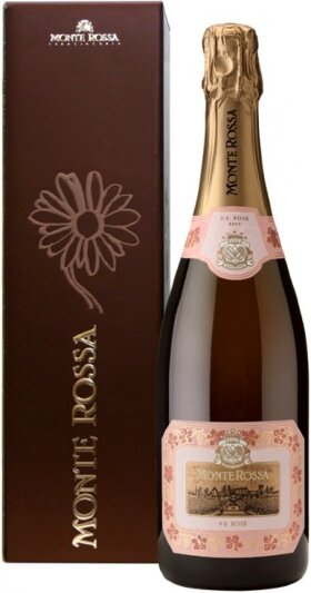 "Игристое вино Monte Rossa, ""P.R."" Brut Rose, gift box"