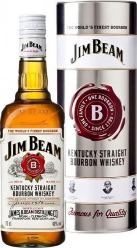 Виски Jim Beam, in metal box, 0.7 л