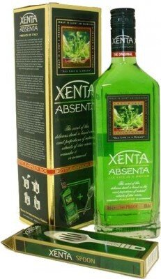 """Абсент Absent """"Xenta"""", gift box with spoon, 0.7 л"""