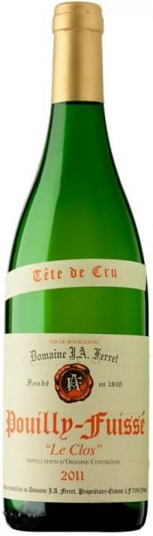 """Вино Louis Jadot, Domaine J.A. Ferret, """"Le Clos"""", Pouilly-Fuisse AOC, 2011"""