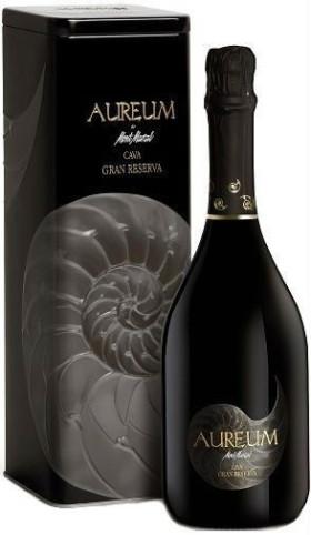 "Игристое вино Mont Marcal, ""Aureum"" Cava Brut Nature Gran Reserva, metal box"