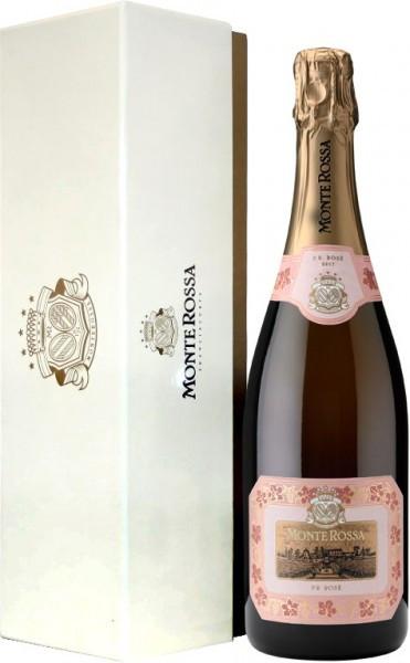 """Игристое вино Monte Rossa, """"P.R."""" Brut Rose, gift box """"Premium"""""""