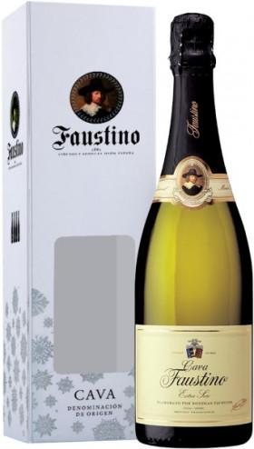 Игристое вино Cava Faustino, Extra Seco, gift box