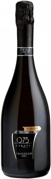 """Игристое вино Piera Martellozzo, """"075 Carati"""" Extra Dry Prosecco DOC"""