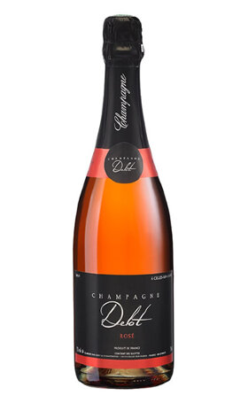 Шампанское La Champenoise Champagne Delot Brut Rose with two glaces 0.75л