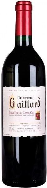 Вино Chateau Gaillard Saint-Emilion Grand Cru 2012