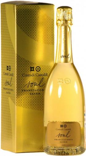 "Игристое вино Contadi Castaldi, Franciacorta ""Soul Saten"", 2005, gift box"