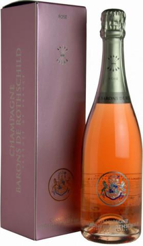 """Шампанское """"Baron de Rothschild"""" Rose, gift box"""