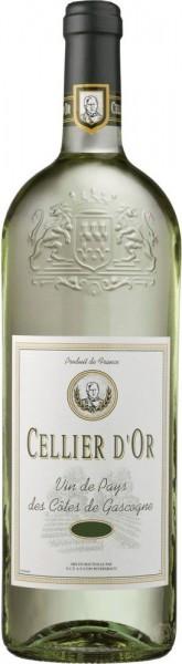 """Вино """"Cellier d'Or"""" Blanc, VdP de Cotes de Gascogne, 1 л"""