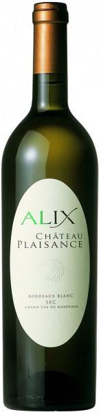 """Вино Chateau Plaisance, """"Cuvee Alix"""" Blanc, 2012"""