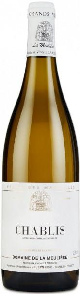 Вино Domaine de la Meuliere, Chablis AOC, 2013, 0.375 л