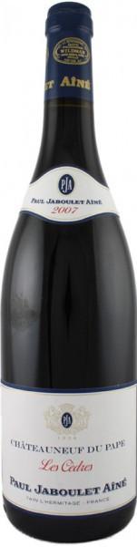 """Вино Paul Jaboulet Aine, """"Les Cedres"""" Rouge, Chateauneuf du Pape AOC, 2007"""