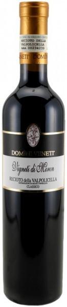 """Вино Domini Veneti, Recioto della Valpolicella Classico DOC """"Vigneti di Moron"""", 2013, 0.5 л"""