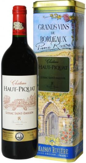 Вино Chateau Haut Piquat, Lussac Saint-Emilion AOC, 2005, metal tube