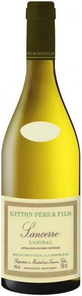 "Вино Gitton Pere & Fils, ""L'Amiral"", Sancerre AOC, 2009"