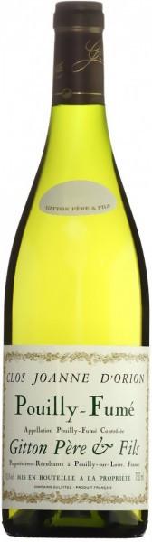 "Вино Gitton Pere & Fils, ""Clos Joanne d'Orion"", Pouilly-Fume AOC, 2013"