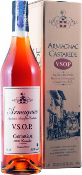"Арманьяк Castarede, ""Castarede"" VSOP, Armagnac AOC, gift box, 0.7 л"