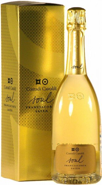"Игристое вино Contadi Castaldi, Franciacorta ""Soul Saten"", 2006, gift box"