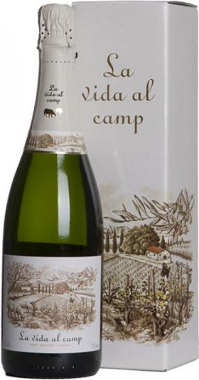 Игристое вино La Vida al Camp, Cava Brut, in gift box