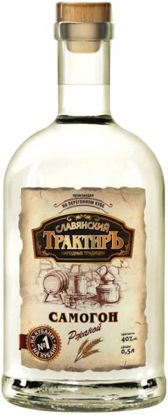"Водка ""Slavyanskij Traktir"" Samogon Rye, 0.5 л"