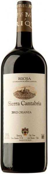 Вино Sierra Cantabria, Crianza, Rioja DOCa, 2012, 1.5 л