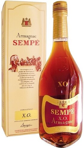 Арманьяк Armagnac Sempe XO, gift box, 0.7 л