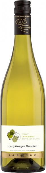 """Вино Domaine Laroche, """"3 Grappes Blanches de la Chevaliere"""", 2015"""