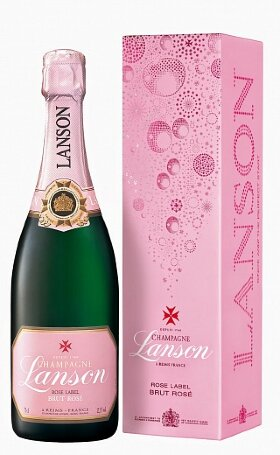 Шампанское Lanson Rose Label Brut Rose gift box 0.75л