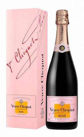 Шампанское Veuve Clicquot Brut Rose gift box 0.75л