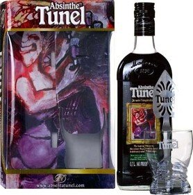 "Абсент ""Tunel"" Black, gift box with spoon & glass, 0.7 л"
