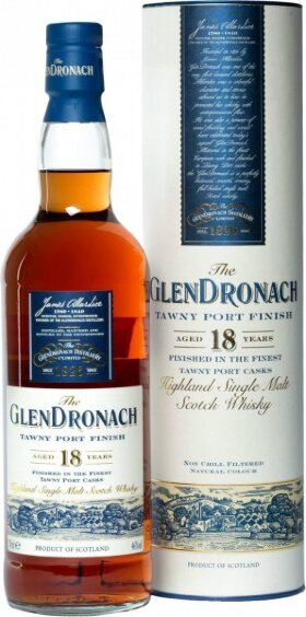 "Виски Glendronach ""Tawny Port Finish"", 18 years old, in tube, 0.7 л"