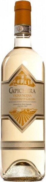 """Вино Capichera, """"Vigna'ngena"""", Vermentino di Gallura DOCG, 2014"""