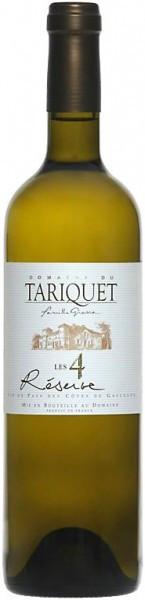 """Вино Domaine du Tariquet, """"Les 4 Reserve"""", Cotes de Gascogne VDP, 2010"""