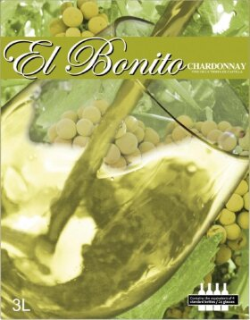 "Вино ""El Bonito"" Chardonnay, 3 л"