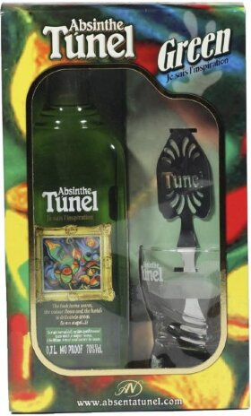 "Абсент ""Tunel"" Green, gift box with spoon & glass, 0.7 л"