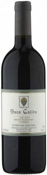 "Вино Poderi del Paradiso, ""Saxa Calida"" Rosso, Toscana IGT, 2010"