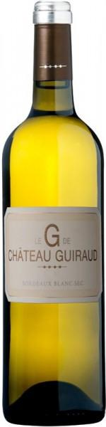 """Вино Le """"G"""" de Chateau Guiraud, Bordeaux Blanc Sec, 2010"""
