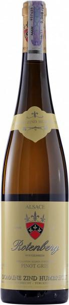 """Вино Zind-Humbrecht, Pinot Gris """"Rotenberg"""", Alsace AOC, 2011"""